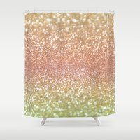 champagne Shower Curtains featuring Champagne Shimmer by Lisa Argyropoulos