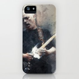 David gilmour comfortably numb digital paint iPhone Case