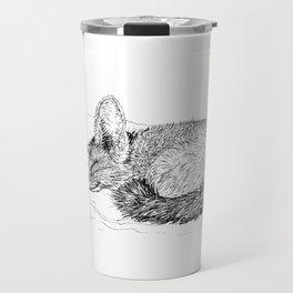 Sleepy Fenec Fox Travel Mug