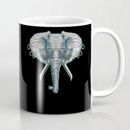 Vintage Elephant with Pierced Ears & Spectacles Coffee Mug