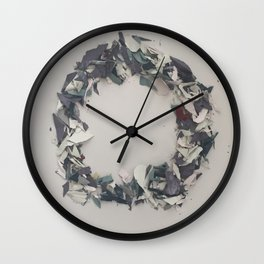 Letter O in Paint Wall Clock