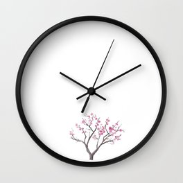 prunus mume Wall Clock