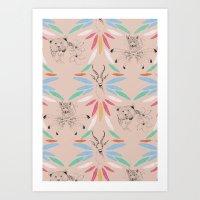 safari Art Prints featuring Safari by Laura Braisher
