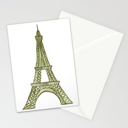 Eiffel tower GOLD / La tour Eiffel - PAINTED Stationery Cards