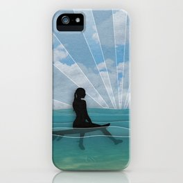 View from a Surfboard iPhone Case
