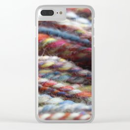 Handspun Yarn / Lots of colors Clear iPhone Case