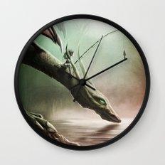 Fishing On The Drinking Dragon Wall Clock
