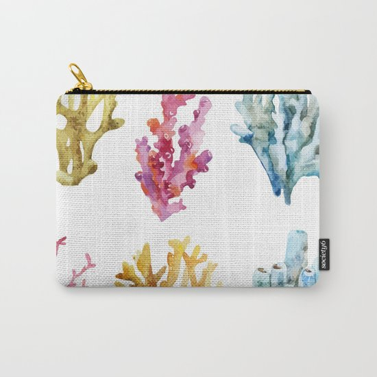 Colorful Chorals Carry-All Pouch