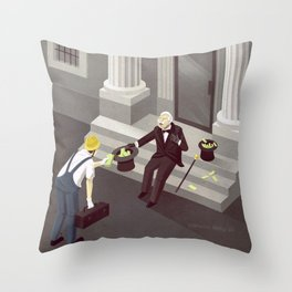 current account Throw Pillow