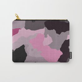 Black Gray and Pink Camouflage Carry-All Pouch