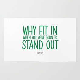 Stand Out Quote - Dr Seuss Rug