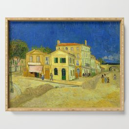"Vincent Van Gogh ""The yellow house ('The street')"" Serving Tray"