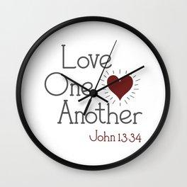 Religous Neck Gaiter Love One Another John 13 34 Christian Neck Gator Wall Clock