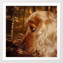 Dog Cocker Spaniel Art Print