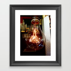 LIGHTbulb Framed Art Print