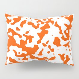 Spots - White and Dark Orange Pillow Sham