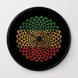Rasta Flower of Life Wall Clock