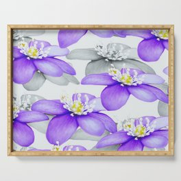 Spring Forest Blue Flowers #decor #society6 #buyart Serving Tray