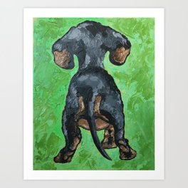 Little Dachshund Art Print