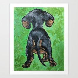 Little Dachshund Art Print