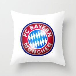 Bayern Munchen Logo Throw Pillow