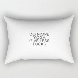Do More Yoga Give Less Fucks, Yoga Quote, Yoga Art Rectangular Pillow