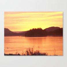 Frozen Sunset 2 - Gold Canvas Print