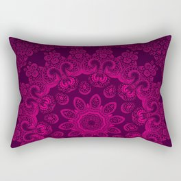 Mandala Magenta Rectangular Pillow