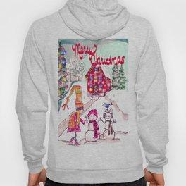 Merry Christmas Snowgirl Hoody
