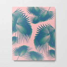 Fan Palm Leaves Paradise #10 #tropical #decor #art #society6 Metal Print