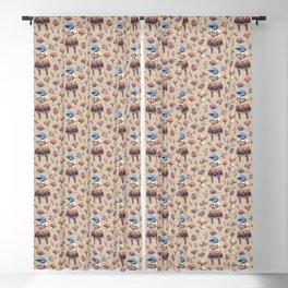 Mushroom Pickers - Lady Blue Blackout Curtain