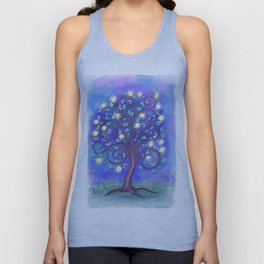 Blue Mystic Tree Unisex Tank Top