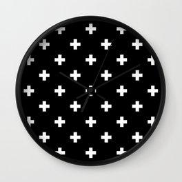 Swiss cross pattern Wall Clock