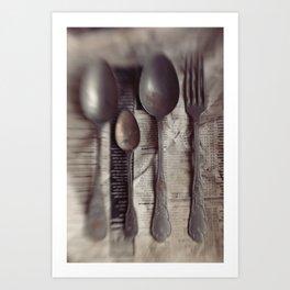 Spoons 2 Art Print