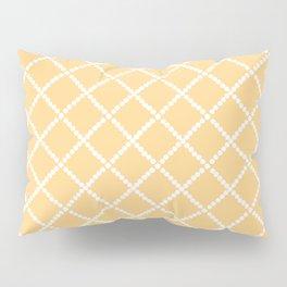 Criss Cross Yellow Pillow Sham