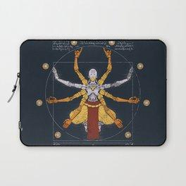Vitruvian Omnic - color version Laptop Sleeve