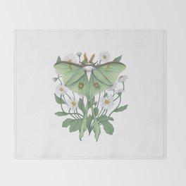 Metamorphosis - Luna Moth Throw Blanket