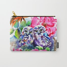 Little Saw Whet Owls Carry-All Pouch
