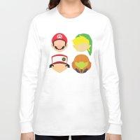 nintendo Long Sleeve T-shirts featuring Nintendo Greats by MoleFole