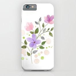 Purple Aquarelle Watercolor Rose iPhone Case