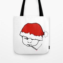 Smoking Christmas Baby Tote Bag