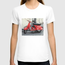 Red Scooter in Italy T-shirt