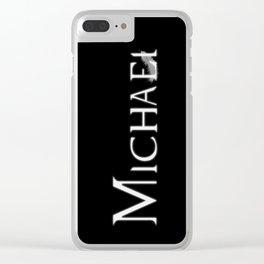 Archangel Michael with Feather Clear iPhone Case