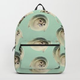 aqua green underwater cute baby sea lion seal Backpack
