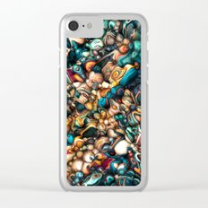 Abstract Texture And Colors Clear iPhone Case