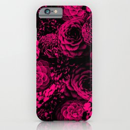 Moody Florals in Magenta iPhone Case