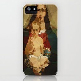 Annonymous Mother - Kubistika by Boris Draschoff iPhone Case