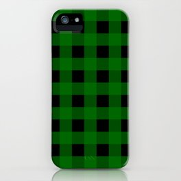 Pine Green Buffalo Check - more colors iPhone Case