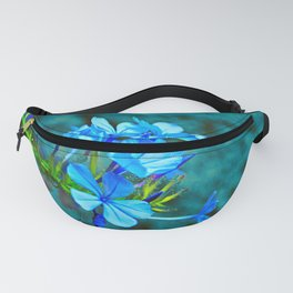 Blue Plumbago Flowers Branch Fanny Pack