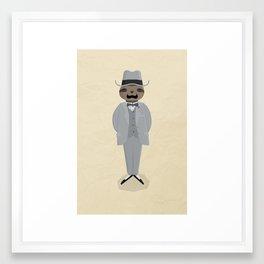 Slothcule Poirot Framed Art Print